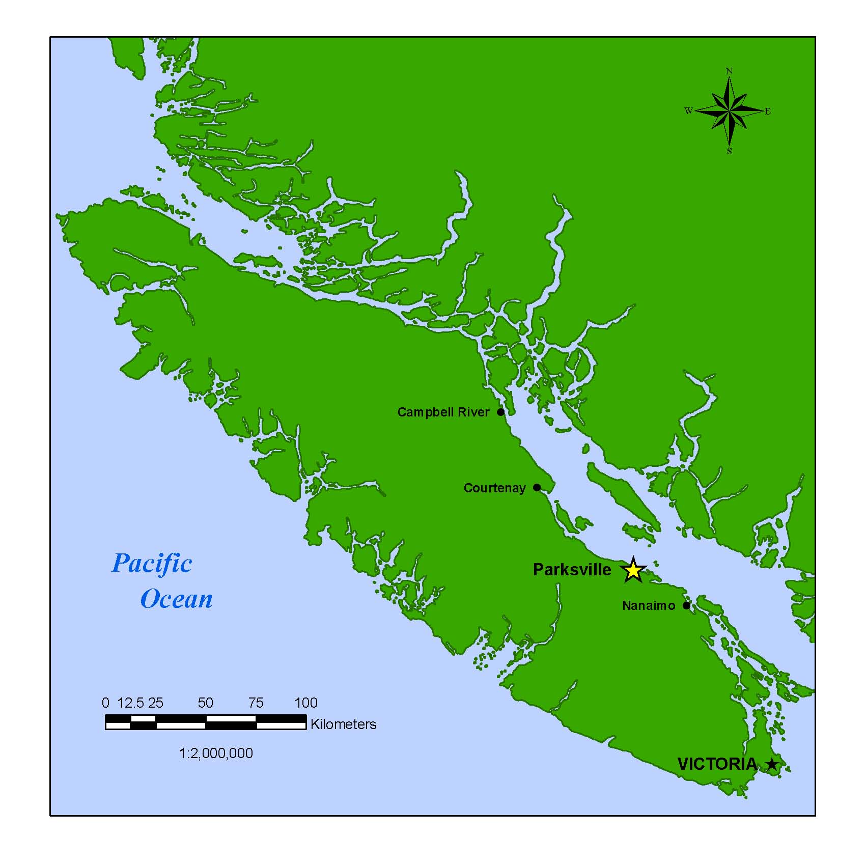 View Larger Map of Vancouver Island